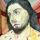 Križani – akvarel na papirju, 25x19 cm, 1999