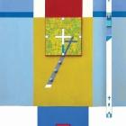 Oltarni triptih metamorfoze križa – kolaž/karton in akril na lesu, 70x50x7 cm, 2018