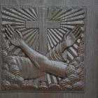Detajl na vhodnih vratih v samostan