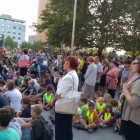 Učenci OŠ Ivana Roba Šempeter pri Gorici na odprtju razstave