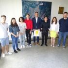 Sprejem pri županu MO Nova Gorica - dijaki